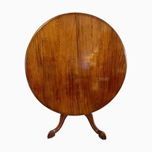 19th-Century Antique Victorian Mahogany Circular Centre Table