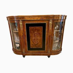 Antique Victorian Inlaid Burr Walnut Credenza