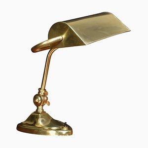 Art Nouveau Bankers Brass Desk Lamp