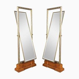 Specchi Cheval grandi con cornice in bronzo di Versace, set di 2