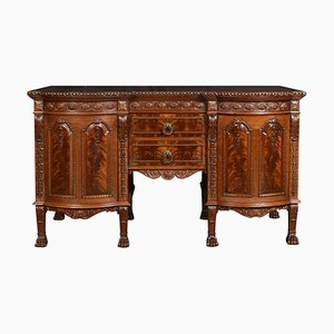 Carved Mahogany Inverted Breakfront Sideboard