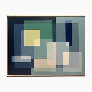 Salvador Santos, Geometria sottile, 2019, acrilico su tela