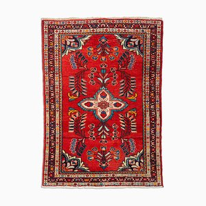 Floral Carpet in Light Red with Border and Medallion