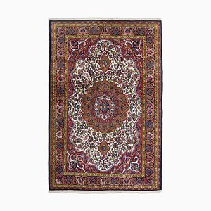 Floral Carpet in Wine Red with Border and Medallion
