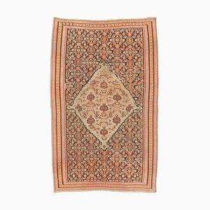 Antiker Teppich mit Medaillon und Bordüre