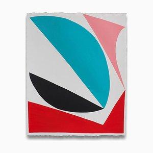 Jessica Snow, Cut Space, 2016, Acrilico su carta