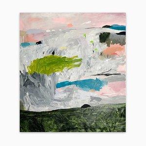 Nathan Paddison, Ewe Kahn Have to Whore Rise N's, 2021, acrilico, carbone e vernice spray su lino