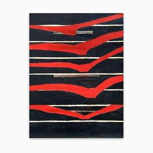 Fieroza Doorsen, Untitled (Id 1286), 2017, olio, inchiostro e acrilico su tela