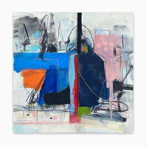 Adrienn Krahl, Experience, 2021, acrilico, carbone e olio su tela
