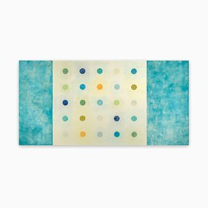 Tracey Adams, (R)evolution 31, 2015, Pigmented Beeswax, Oil & Collage on Panel