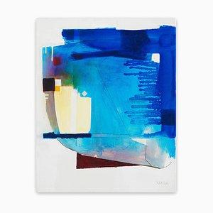 Xanda McCagg, A Head, 2019, olio e grafite su tela