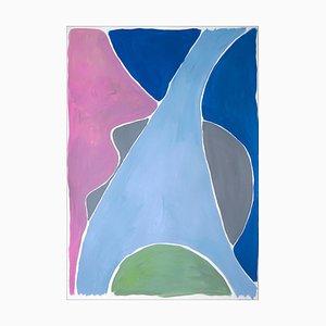 Natalia Roman, Fork in the River, 2021, inchiostro d'archivio, tecnica mista, olio, acrilico, acquerello e carta d'archivio