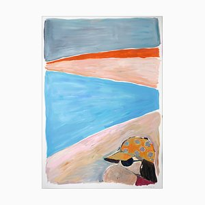 Natalia Roman, Last Summer Sunset, 2021, Acrylic & Watercolor