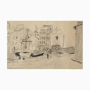 Frank Milo Martigues, Bouches Du Rhône, 1957, Pencil on Paper, Framed