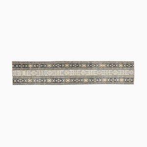 Narrow Vintage Turkish Handmade Wool Hallway Rug