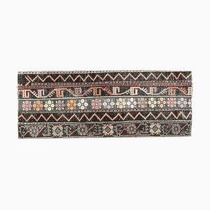Vintage Turkish Handmade Patchwork Wool Oushak Hallway Rug