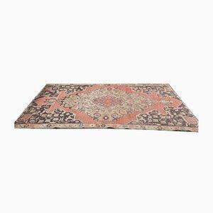 Low Pile Vintage Turkish Oriental Handmade Wool Oushak Carpet