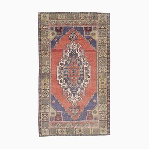Vintage Middle Eastern Handmade Wool Hallway Rug