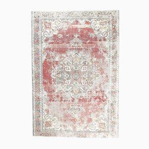 Antique Turkish Oriental Handmade Red Wool Oushak Area Rug