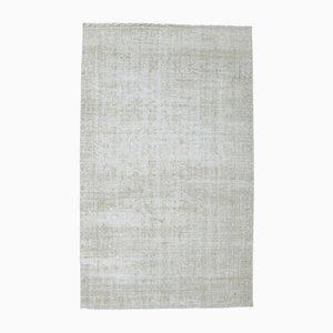 Antiker türkischer handgefertigter geometrischer Oushak Teppich in neutralem Beige