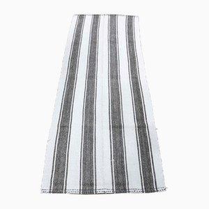 Vintage Turkish Handmade Flatweave Wool Oushak Kilim Carpet