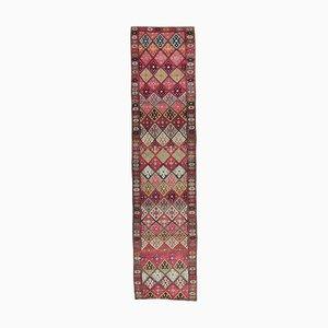 Vintage Turkish Hand-Knotted Wool Oushak Alfombra Hallway Rug