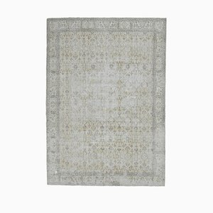 Turkish Distressed Oushak Rug in Faded Beige