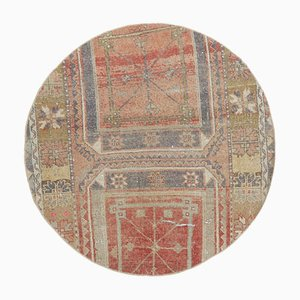 Vintage Turkish Oushak Round Rug