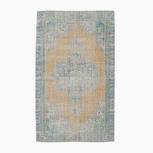 Vintage Middle East Heirloom Handmade Orange Wool Rug