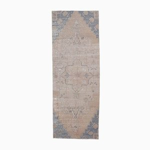 Antiker handgefertigter türkischer Oushak Wollteppich