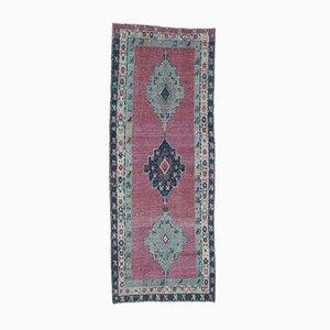 Vintage Turkish Oushak Handmade Wool Runner Rug