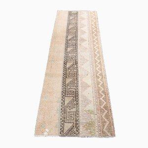 Handgefertigter türkischer Vintage Patchwork Oushak Wollteppich
