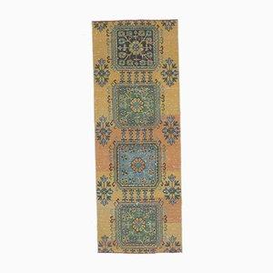 Vintage Turkish Oushak Handmade Floral Orange Wool Rug