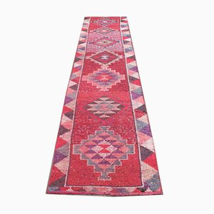 Vintage Turkish Oushak Handmade Red Wool Rug