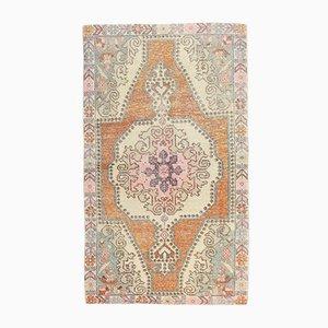 Vintage Oushak Handgemachter Orangenfarbener Vintage Wollteppich