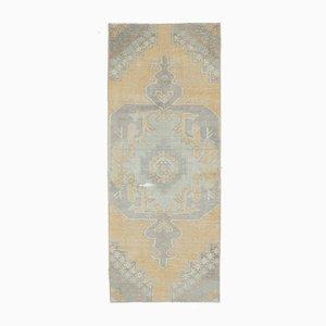 Antique Middle East Oushak Handmade Wool Runner Rug