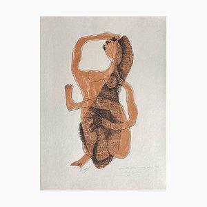 Henri Laurens, Femme assise à la jambe levée, 1950er, Lithografie auf Japanpapier