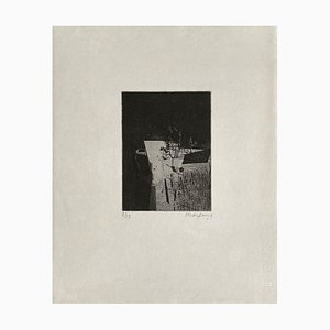André Marfaing, Composition 048, 1966, Etching on Paper