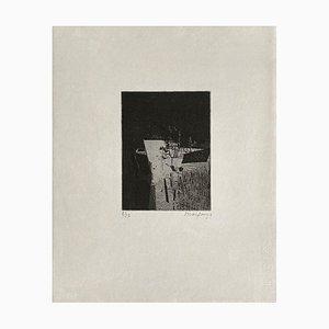 André Marfaing, Composition 048, 1966, Incisione su carta