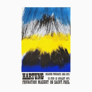 Carta Poster Hans Hartung, Expo 71, Fondation Maeght, 1971