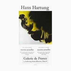 Hans Hartung, Expo 75, Galerie de France, 1975, Carta patinata