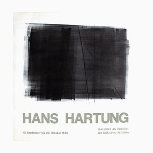 Carta Poster Hans Hartung, Expo 66, Galerie Im Ecker, 1966