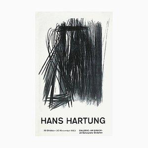Carta da poster Hans Hartung, Expo 63, Galerie Im Ecker, 1963