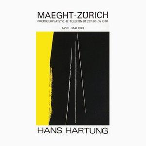 Carta per poster opaca di Hans Hartung, Expo 73, Maeght Zurigo, 1973