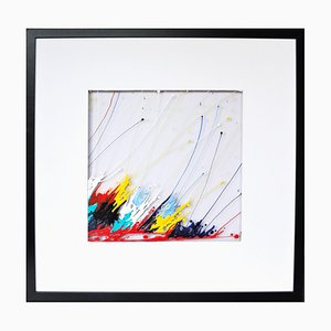 Rita Vandenherrewegen, Instant de légèreté, 2021, Acrylic on Plexiglas, Framed
