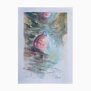 Fabien Renault, Le flotteur, 2021, Watercolor on Paper