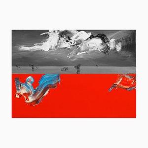 Slawomir Kuszczak, Tesla Modulation of the Waves, 2021, Öl auf Leinwand