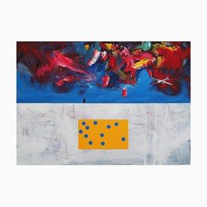 Slawomir Kuszczak, Abenteuer von Thomas Mann in Verkleidung oder gemaltes Wetter, 2020, Acryl auf Leinwand