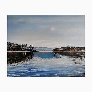 Barbara Hubert, See, 2021, Öl auf Leinwand