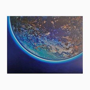 Barbara Hubert, Full Moon, 2021, Huile sur Toile